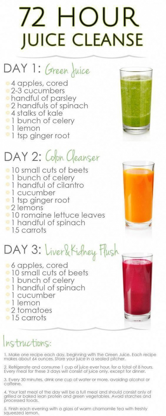 3day juice diet plan