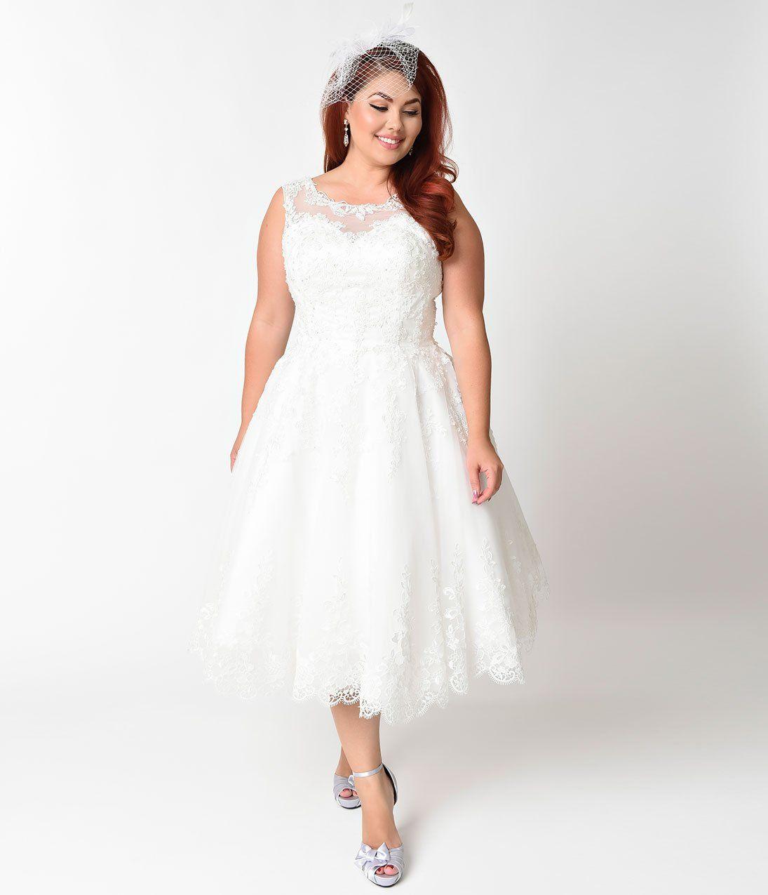Plus size s ivory lace u tulle riviera bridal dress unique