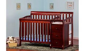 Dream On Me Jayden 4 In 1 Mini Convertible Crib And Changer Convertible Crib Cribs Baby Cribs