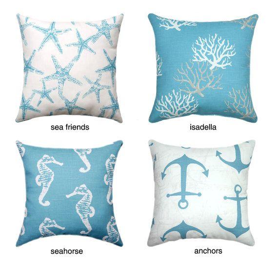 Beach Decor Nautical Pillows Pillow Cover Decorative Pillow Gorgeous Washing Decorative Pillows