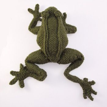 Knitted Frog | Animal knitting patterns, Knitted toys free ...