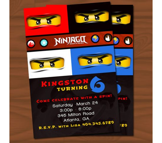 Ninjago Invitations Google Search Carter S Bday Pinterest