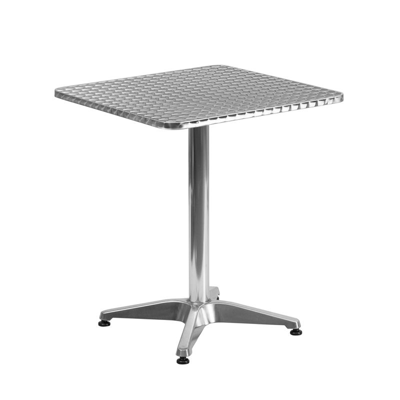 Shop Flash Furniture 27 Inch Square Aluminum Indoor / Outdoor Table With  Base. Unbeatable Prices And Exceptional Customer Service From  WebstaurantStore.