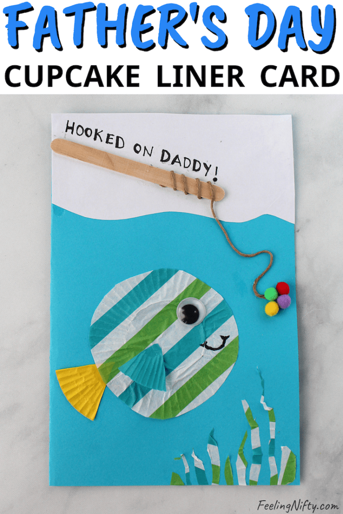 Cute Diy Father S Day Card Fish Cupcake Liner Craft Feeling Nifty Fathersday Crafts Fathers Day Crafts Father S Day Diy