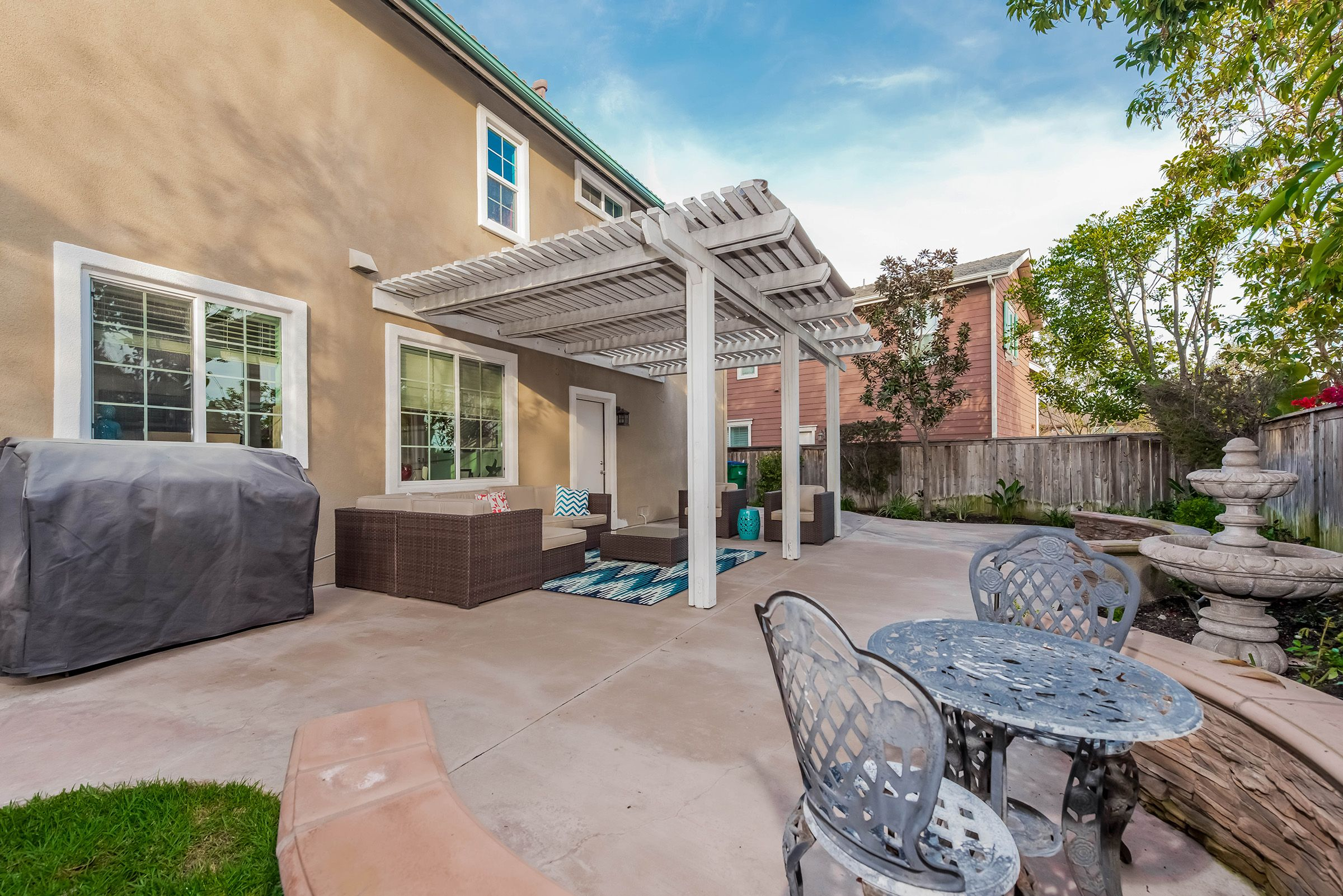 The entertainer's backyard with all new landscape, hardscape, lighting and sprinklers. | 10 Flowerdale, Ladera Ranch, CA