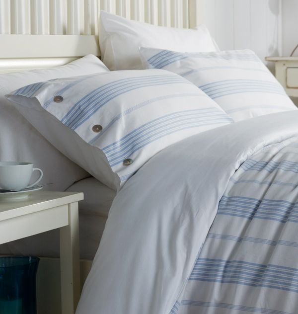 Classic Blue And White Stripe Bed Linen Striped Bedding Bed