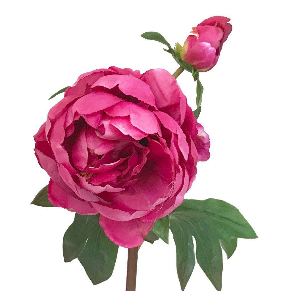 Pink Magenta Large Peony Artificial Indoor Garden Pinterest