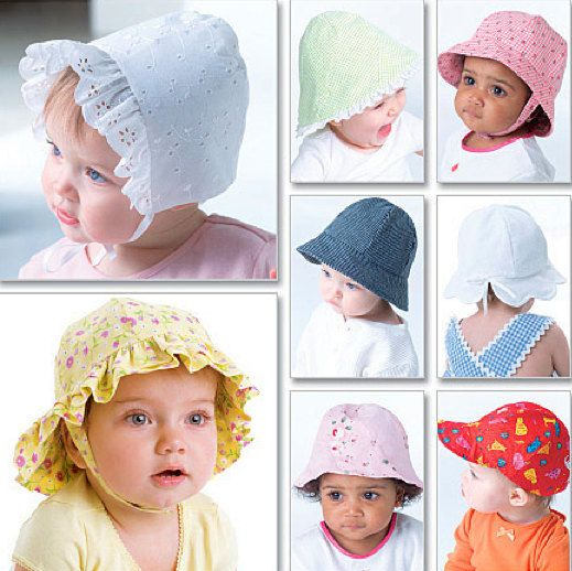 Baby Hat Bonnet Sewing Pattern Eight Infant Hats Bucket Baseball Cap Bonnets 4478 Sew Lutions Baby Hat Patterns Baby Summer Hat Baby Sewing
