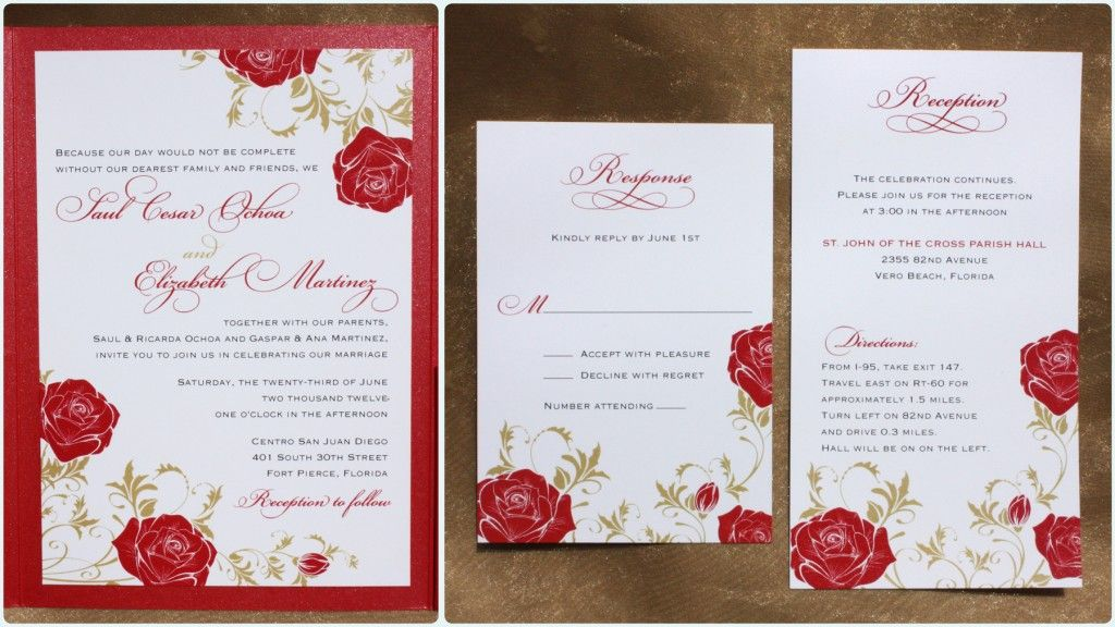 White And Red Wedding Invitations: Red Wedding Invitations