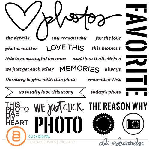 Click Digital  at Ali Edwards this photo has my heart