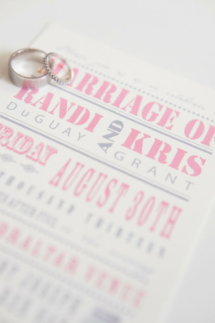 Wedding Invitations | #Pink and #Gray | See the #ShabbyChic wedding ...