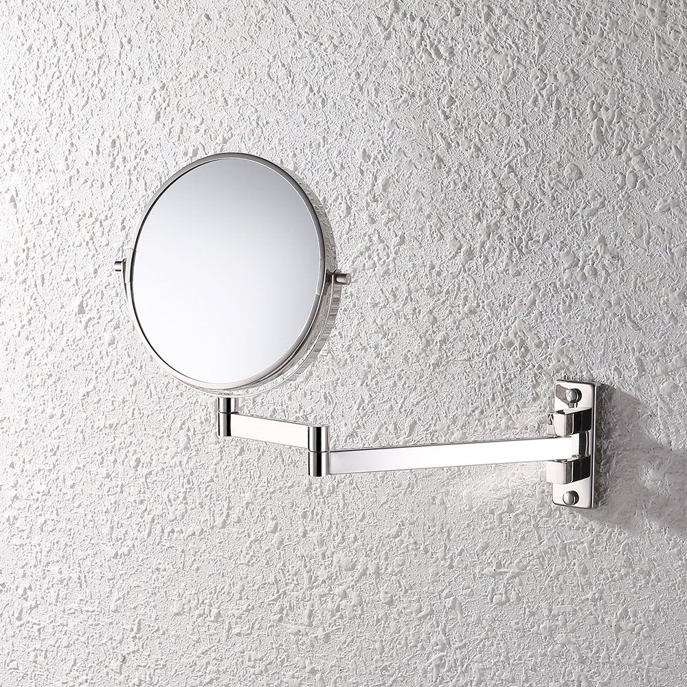 Kes sus304 stainless steel bathroom 5x magnification two sided kes sus304 stainless steel bathroom 5x magnification two sided swivel wall mount mirror 8 inch brushed finish bwm201m5 2 wall mount mirror with 5x amipublicfo Choice Image