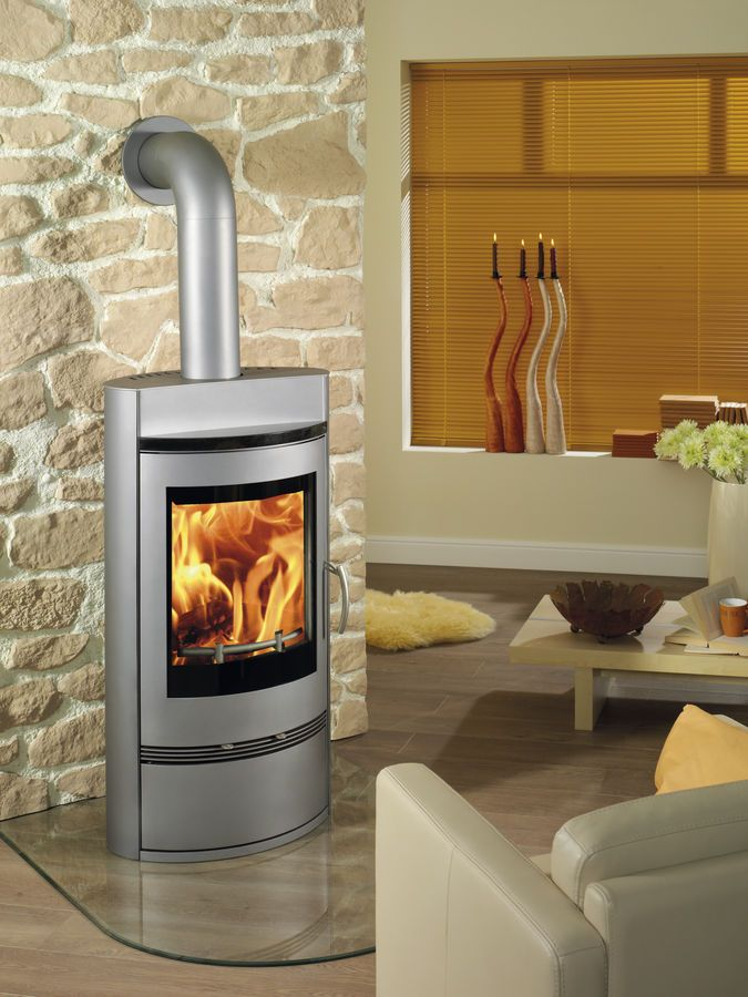 Contemporary Wood Burning Stove Steel Poele A Bois Scandic