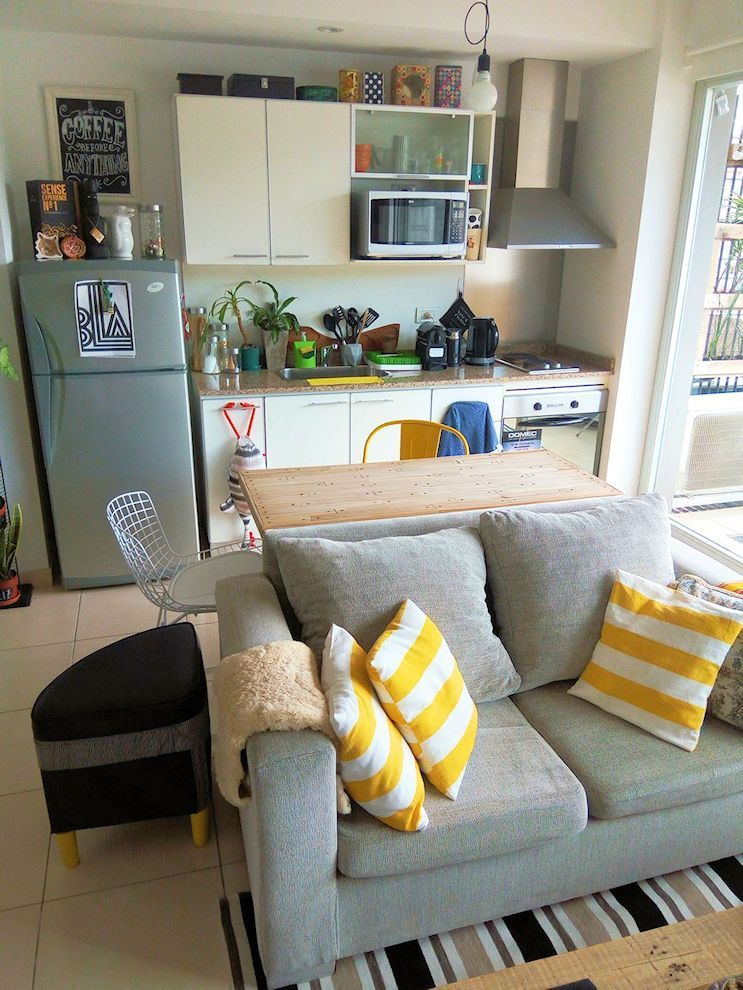 Estilo y diseño en pocos metros un depto pequeño en Buenos Aires - Living Room Ideas For Apartments