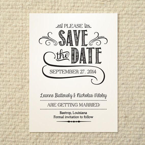 Save The Date Template Free Download | Save the date ...