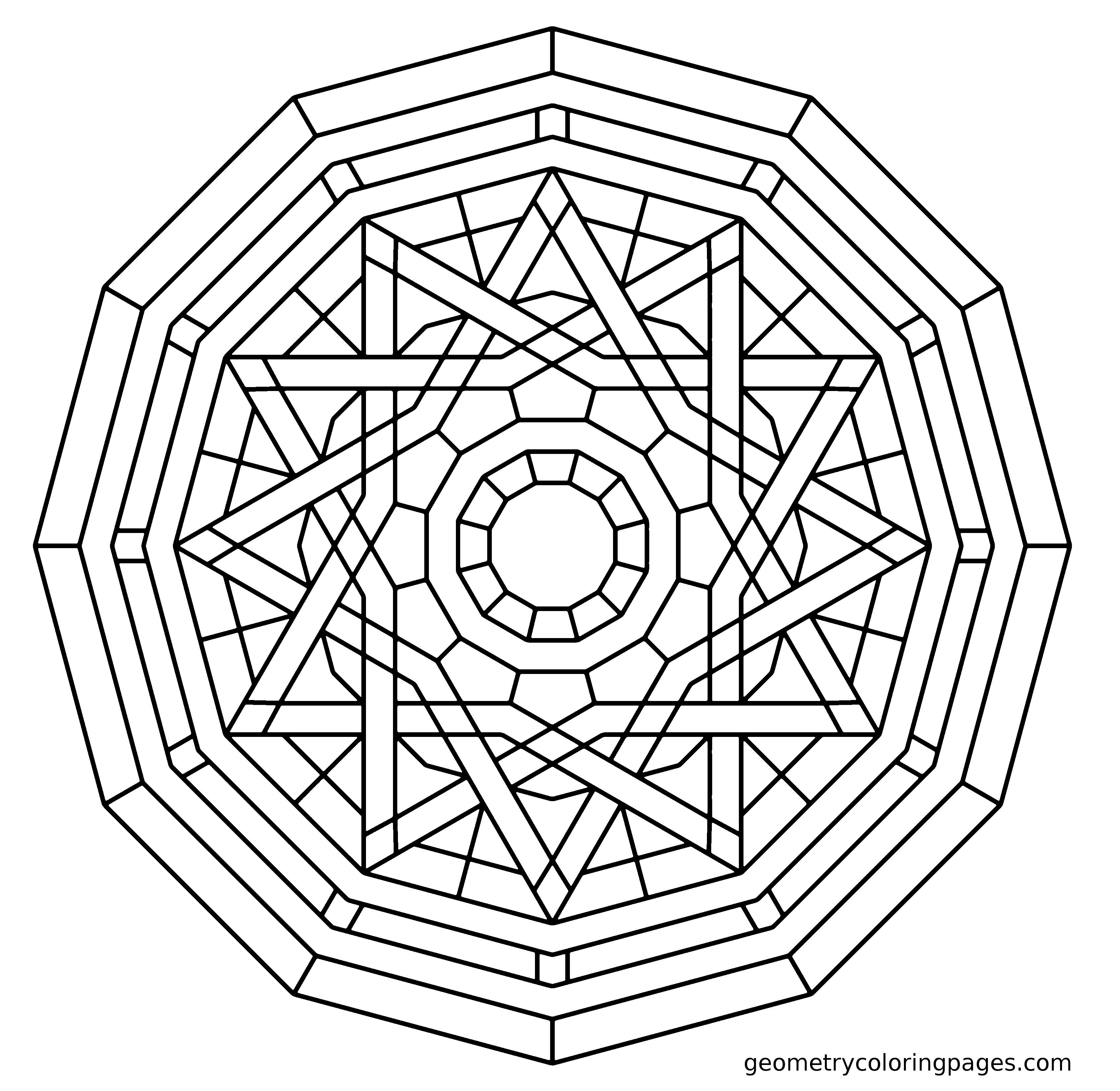Geometry Coloring Page Elemental