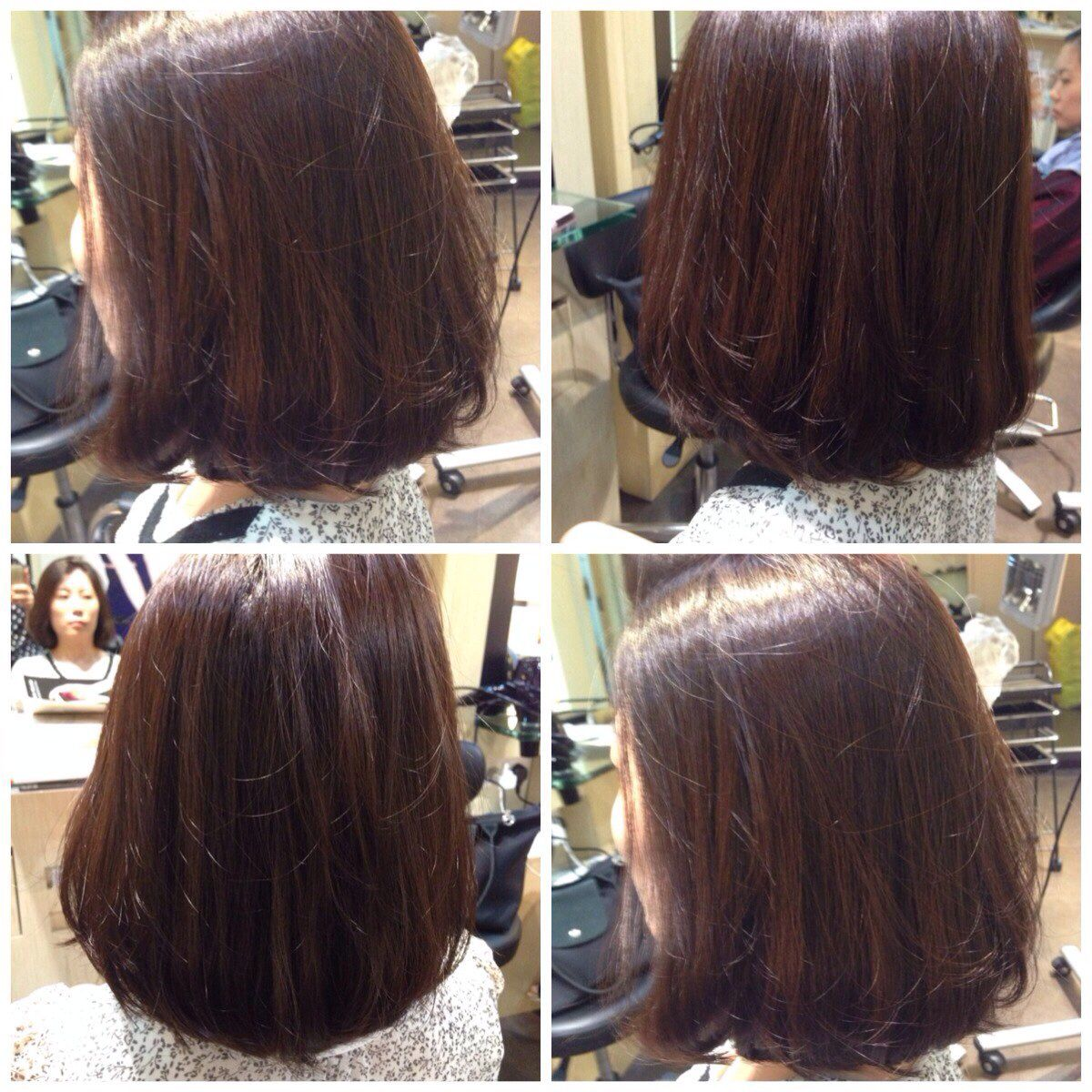 Smooth volume rebonding hair  Short hair haircuts, Layered