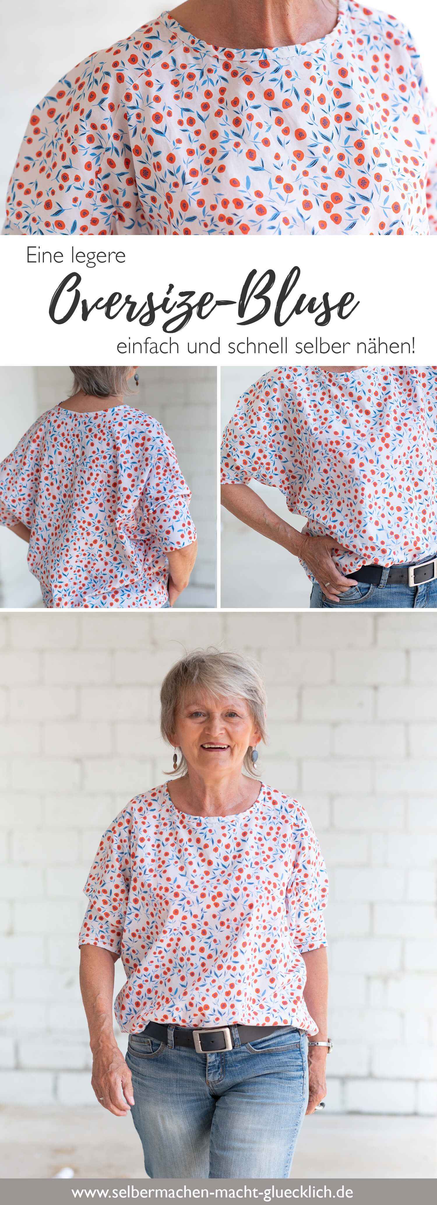 Eine legere Oversize-Bluse einfach selber nähen! – Nähblog