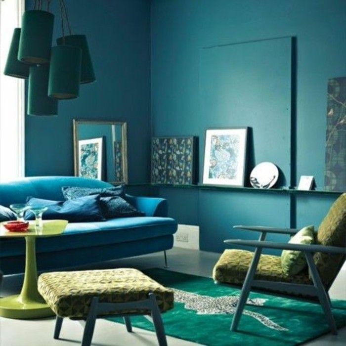 Die Wunderschone Und Effektvolle Wandfarbe Petrol Wandgestaltung