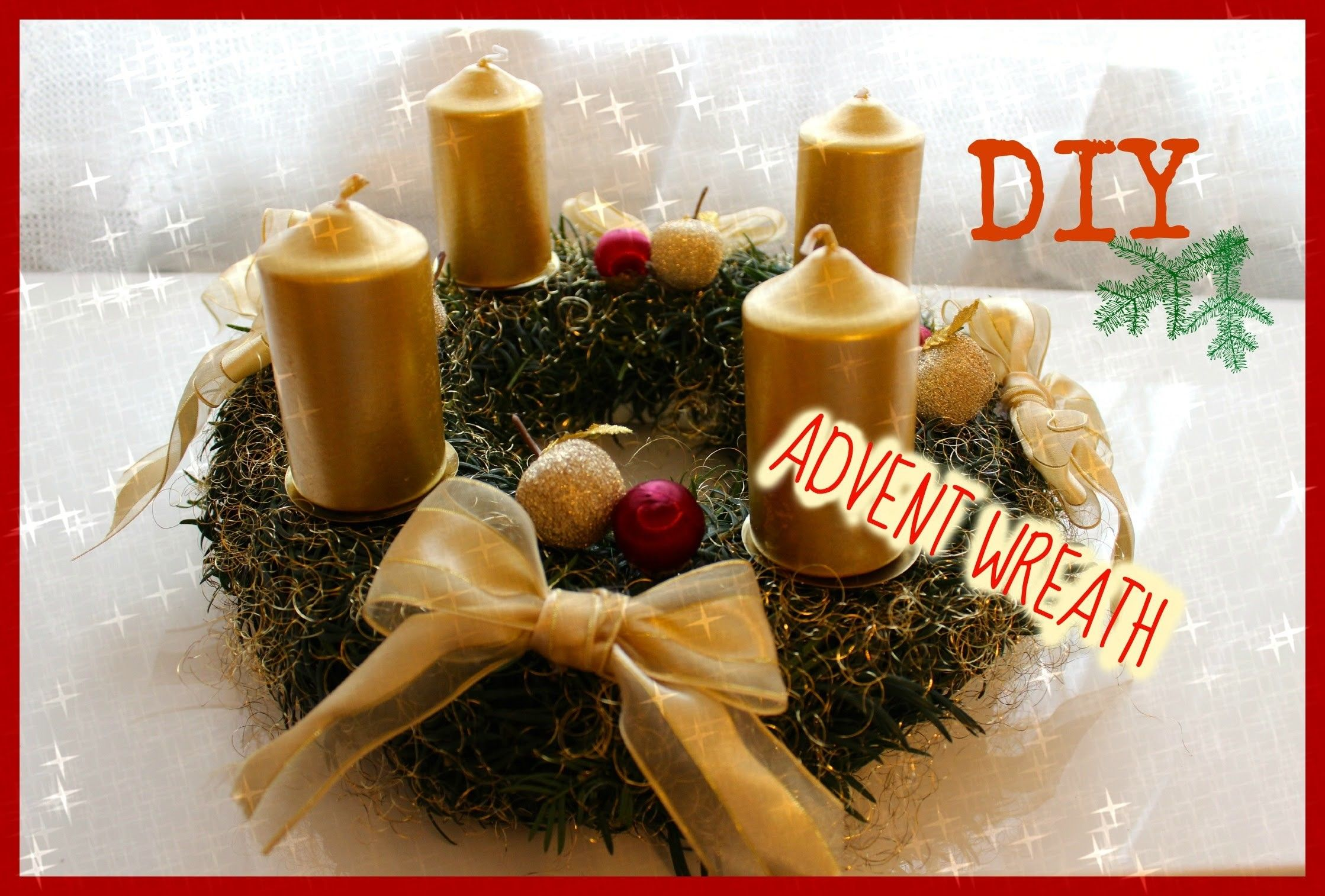 DIY ♡ HOW TO MAKE ADVENT WREATH Christmas decorations