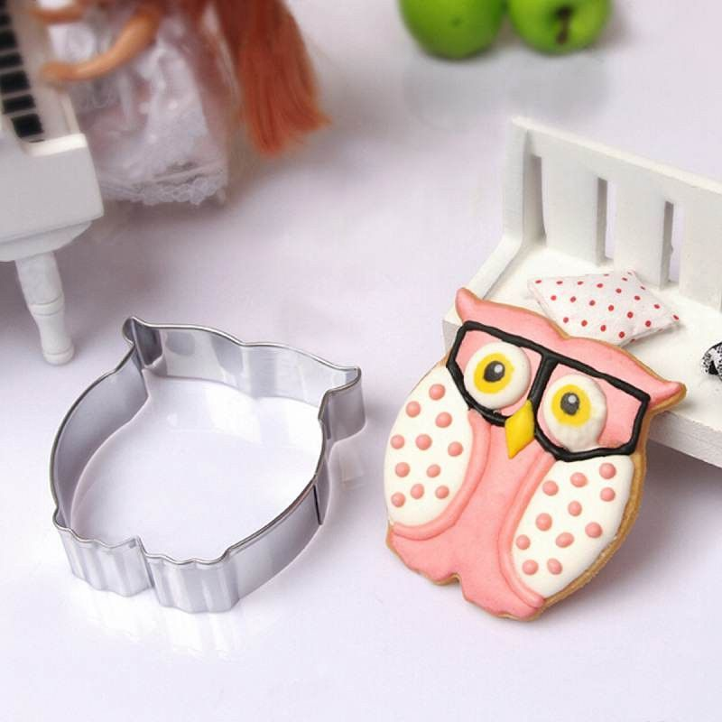 Owl a2 Silicone Mold-Cake Cookie Crafts Clay Fondant Cupcake Candy