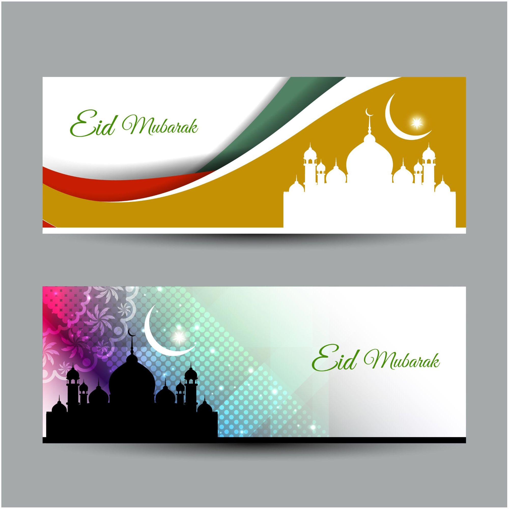 best eid mubarak banners set download free lukisan desain dekorasi best eid mubarak banners set download