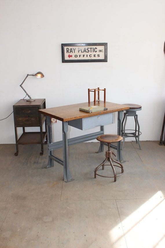 Vintage Industrial 4 Long Workbench Retail Counter Kitchen Island Desk Bar 1950s By Dorset Finds Mobilier De Salon Style Industriel Industriel