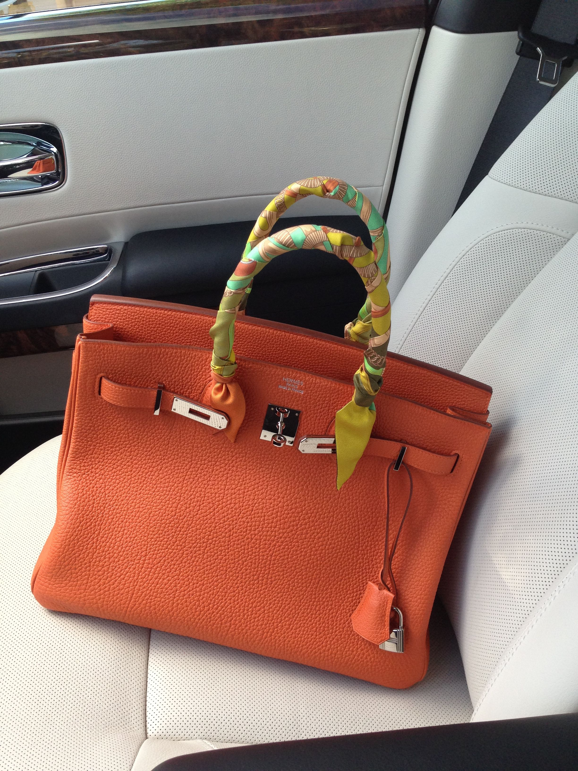 94c2b7ac58 My very first  Birkin 35 in color  Orange.