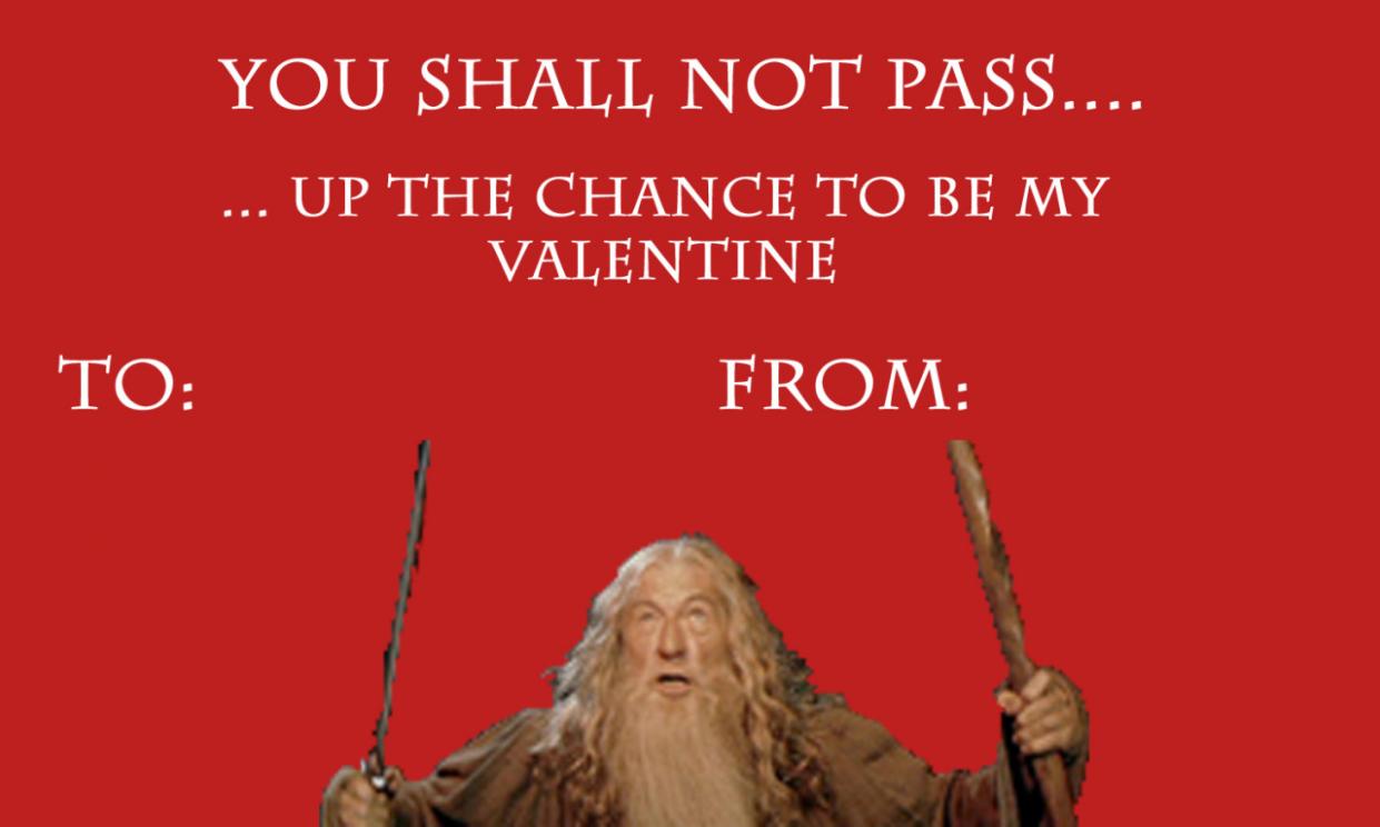 valentine card lotr  valentine valentines cards be my