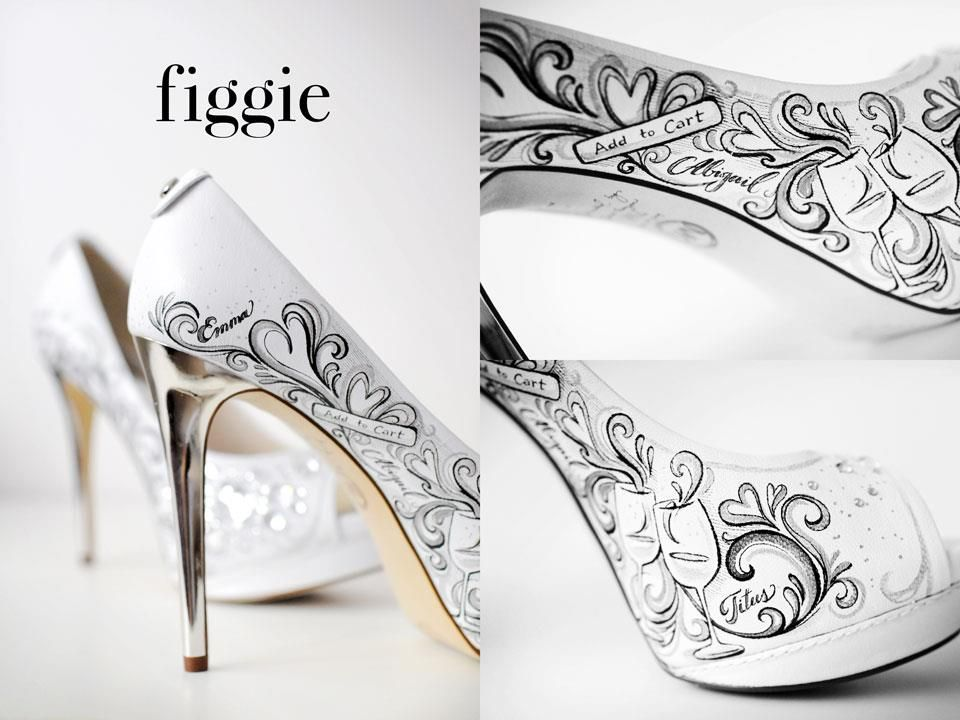 Painted Wedding Shoes For Your Rhodes Planners Rwp