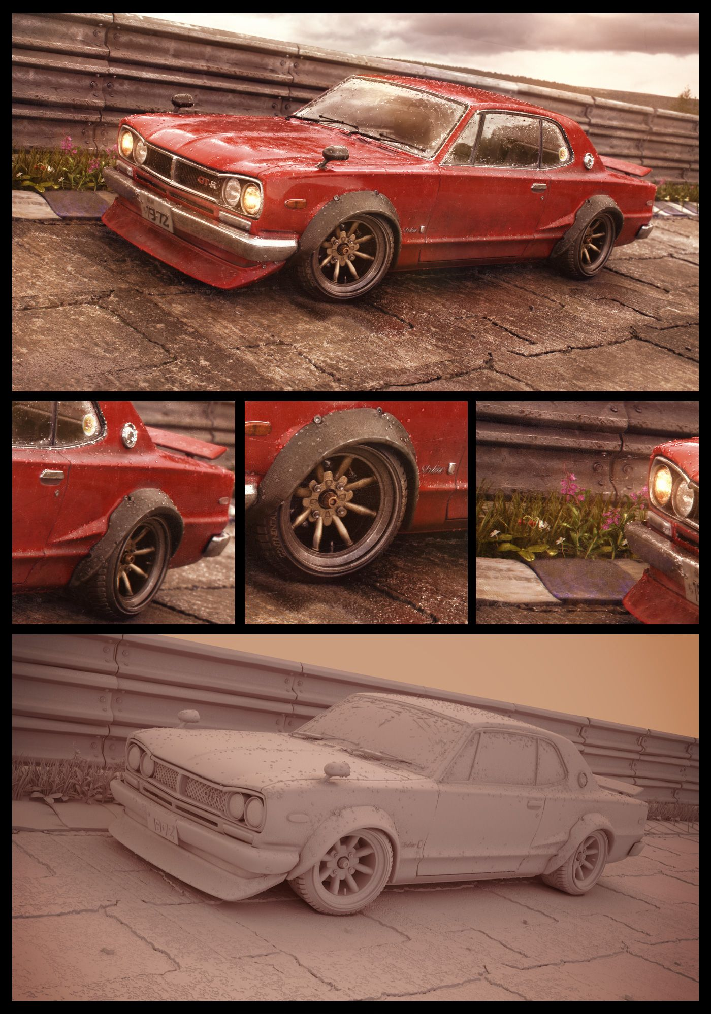 The Red Baron - Nissan Skyline -72 by Kimmokaunela.deviantart.com on @DeviantArt