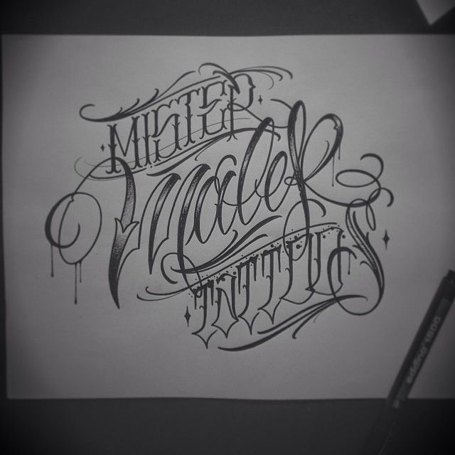 Tattoo Chicano Lettering Fonts