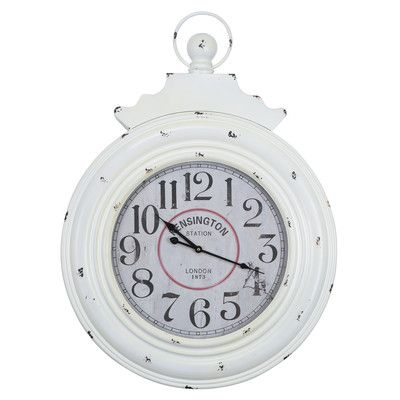 "One Allium Way Oversized 25"" Wall Clock"
