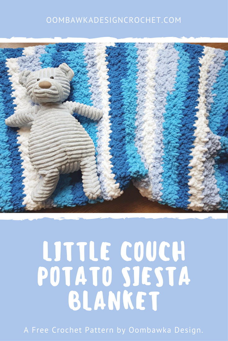 Little Couch Potato Siesta Blanket - A Free Pattern | Ganchillo
