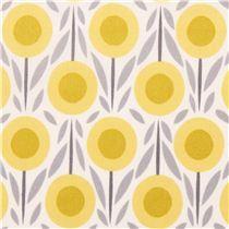 Flower Bed yellow flower Cloud 9 organic fabric House & Garden