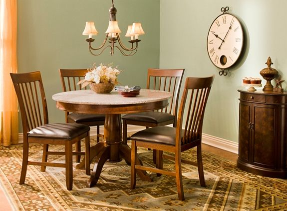 "Granite Dining Room Furniture Serafina 5Pc44"" Granite Dining Set  Dining Sets  Raymour"