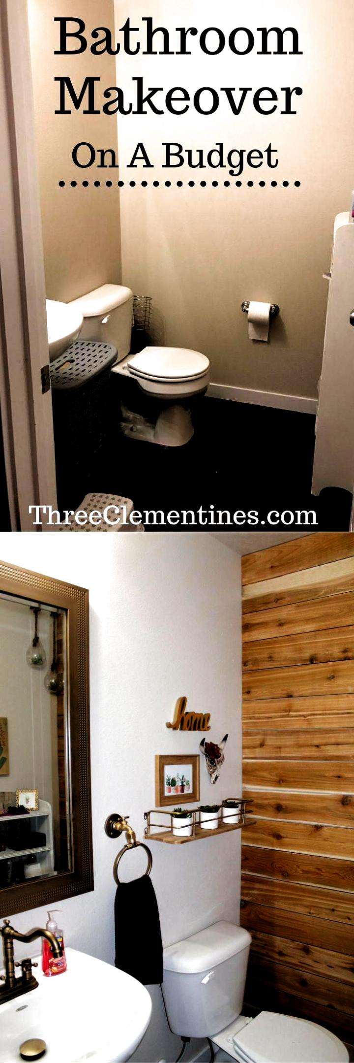 Photo of bathroom, makeover, budget, diy, home decor, interior design, powder room, updat…