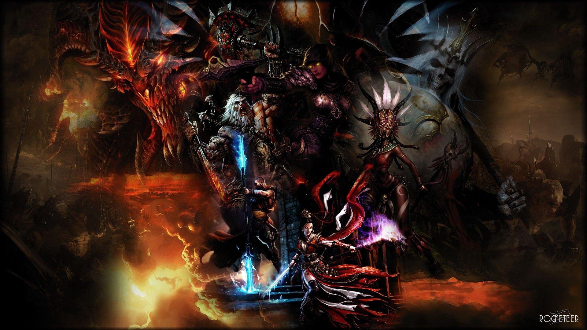 Stunning Diablo 3 Characters Magic Light Faces Diablo Wallpaper Kuff Games Diablo Rpg Fantasia