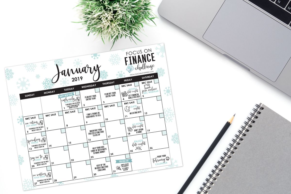 January focus on finance month challenges free