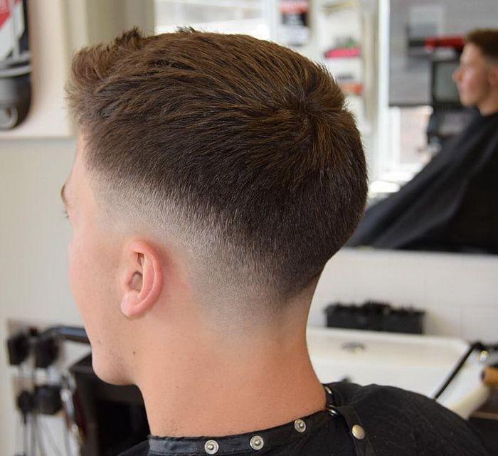 Kurze Quiff Drop Fade Männer Kurze Frisuren Kurze Männer Frisuren