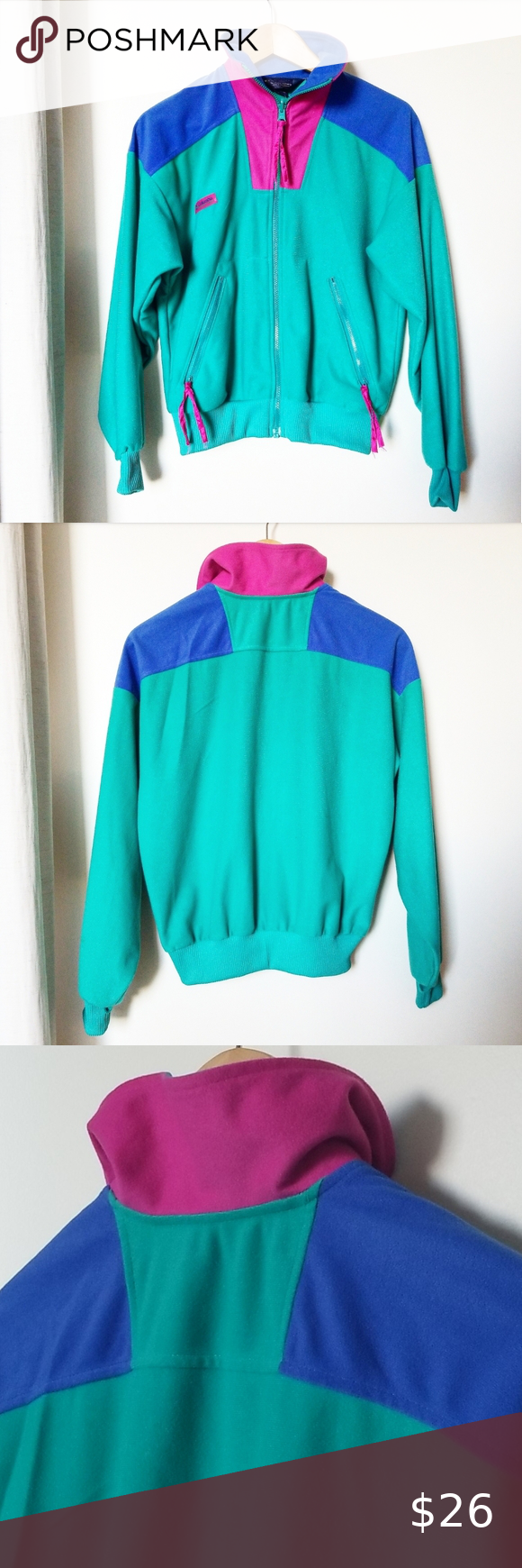 Columbia RARE Vintage Color Block Zip Up Jacket