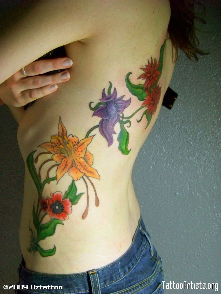flower bouquet tattoo designs | flowers flower collage posted by oztattoo on 5 14 2009