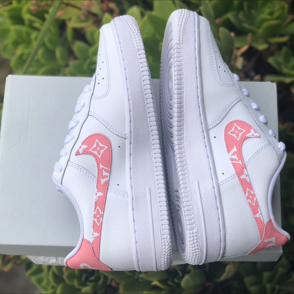 """Image of Air Force 1 """"Pink Supreme Louis Vuitton"""" Customs"""