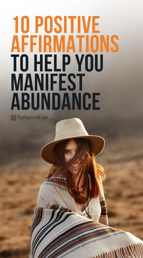 Affirmations to Manifest More Abundance (With images