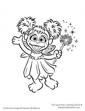 Abby Cadabby Coloring Pages 5 Sesame Street
