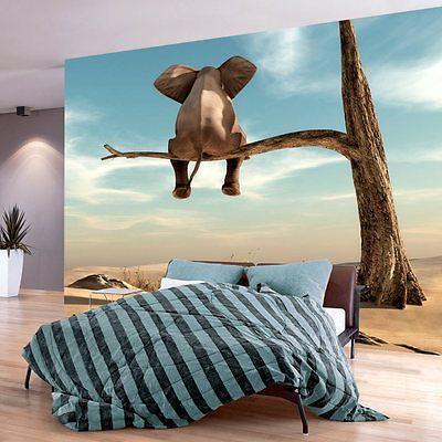 fototapete xxl tiere vlies tapete wandbilder elefant auf dem baum g b 0033 a a tapete in 2019. Black Bedroom Furniture Sets. Home Design Ideas