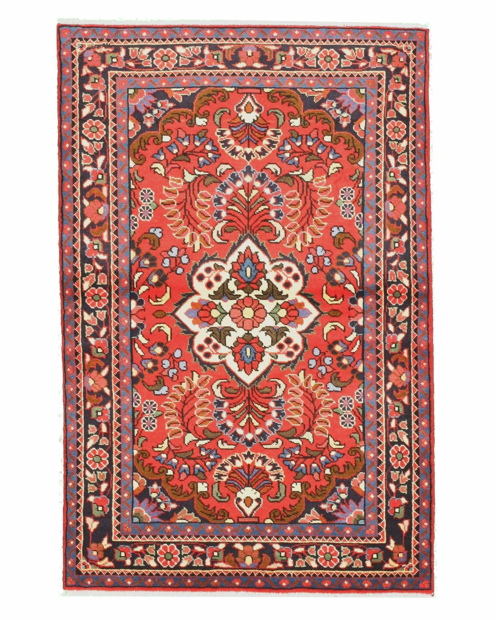 Hand-knotted Wool Red Traditional Oriental Lilihan Rug (3'5 x 5'3)