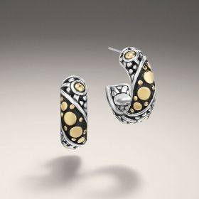John Hardy Dot Jaisalmer Small Hoop Earrings DMgC917