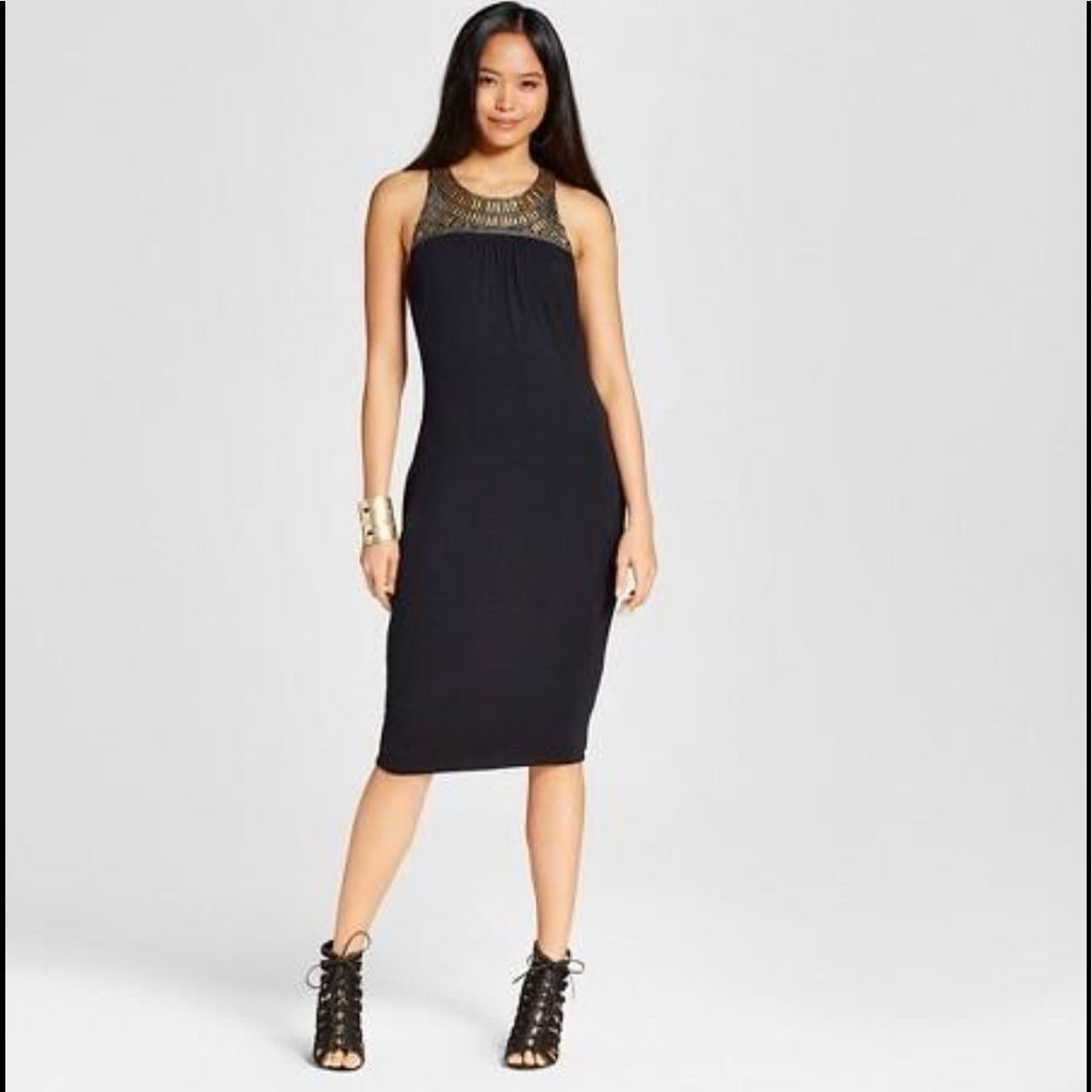 Embellished Fitted Dress