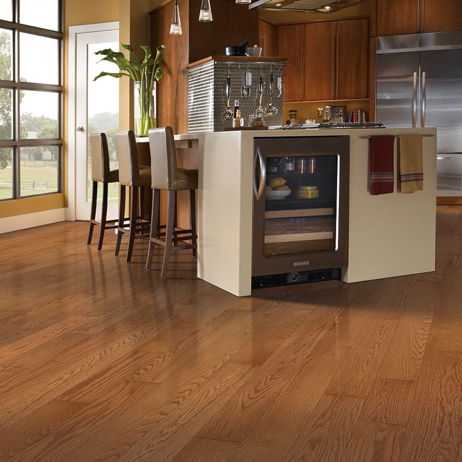 Shop allen + roth 5in W Prefinished Oak Hardwood Flooring